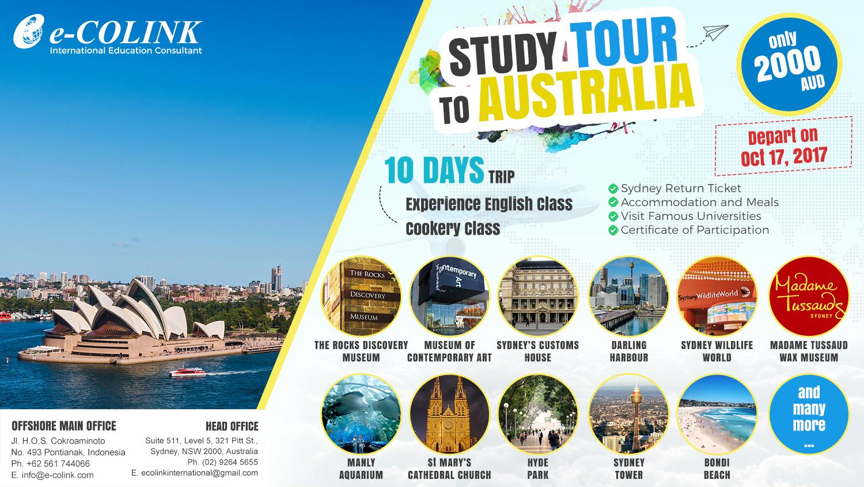 Program Study Tour ke Sydney, Australia bersama e-COLINK