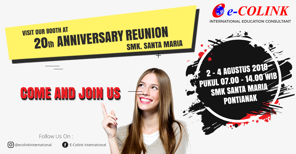 Visit Our Booth at 20th Anniversary Reunion SMK Santa Maria Pontianak