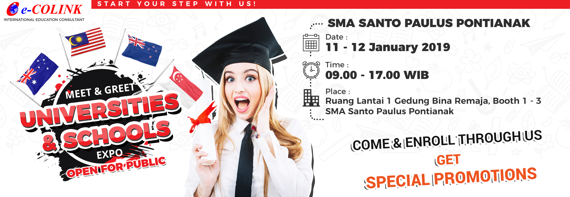 INTERNATIONAL EDUCATION EXPO 2019 - SMA SANTO PAULUS PONTIANAK