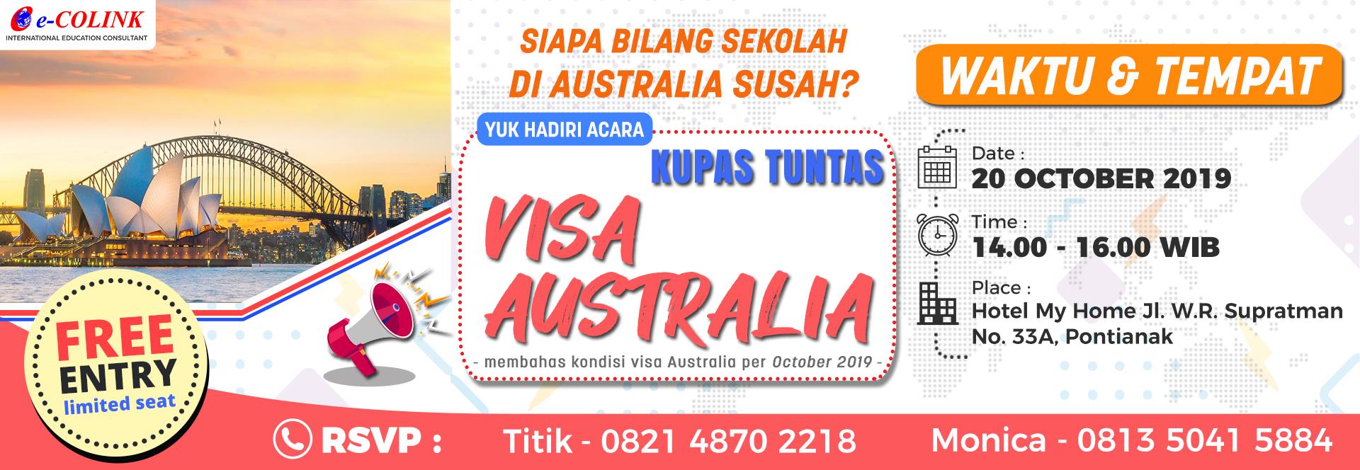 Yuk Hadir di Acara Kupas Tuntas Visa Australia