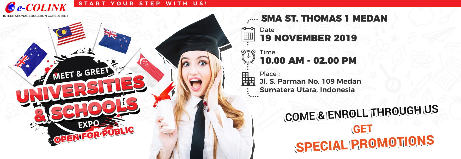 INTERNATIONAL EDUCATION EXPO 2019 - MEDAN - SMA ST. THOMAS 1 MEDAN